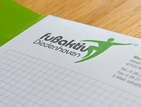 Präsentationsmappe & Schreibblock  für fußaktiv Diedenhoven