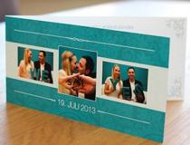 Hochzeitseinladungskarte Sandra & Sebastian