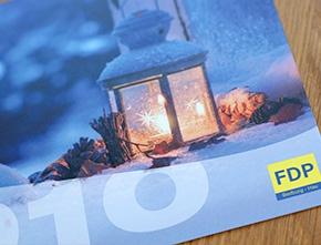 Weihnachtskarte für die FDP Bedburg-Hau