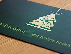Weihnachtskarte für Vidroflor